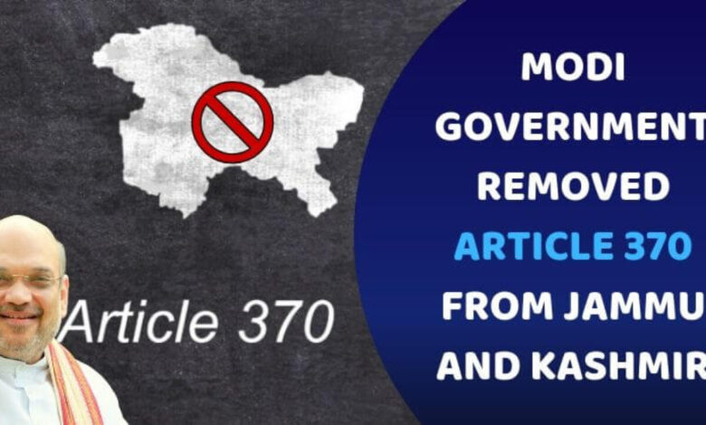 """Photo of Kashmir Special Status Under Article 370 Ends """"At Once"""""""