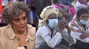 "Photo of Muslims in India accused of ""Corona Jihad"" – Interview with Arundhati Roy"