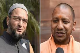 Photo of Owaisi replies to Yogi's comments on being kicked out of country and Ali Bajrang Bali