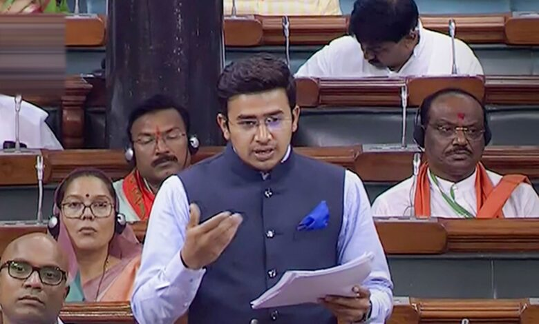 Photo of Tejasvi Surya's Anti Muslim speech in Parliament criticizing Anti CAA protests