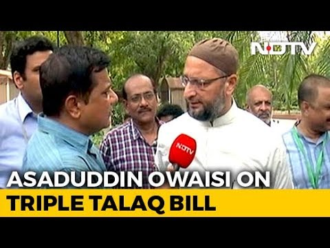 Photo of Owaisi protests in Parliament against Triple Talaq Bill