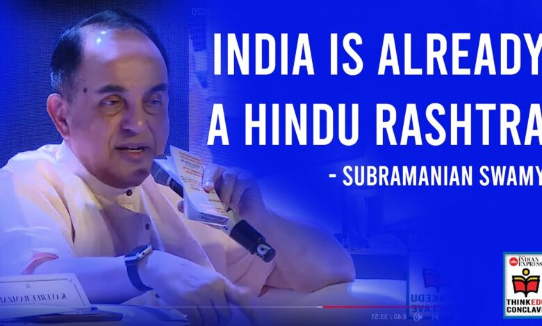 Photo of India is already a Hindu Rashtra: Subramanian Swamy