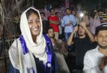 Photo of Afreen Fatima – JNU Allahbad Tweets against Indian crimes on Muslims continously