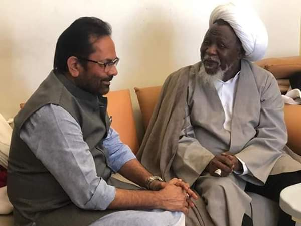 Photo of Zakzaky: I'm a prisoner in India – Discussions with Minority Minister Mukhtar Abbas Naqvi