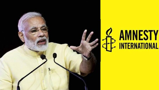 Photo of Guardian article on Amnesty India states Modi as oppressor mongering hatred against Muslims